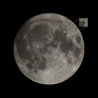 ISS and Moon with cutout